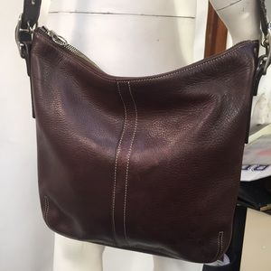 Coach Legacy Brown Pebbled Leather Crossbo…